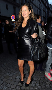 Jade Jagger was one hot lady in this leather cocktail dress. It was certainly an eye catcher.