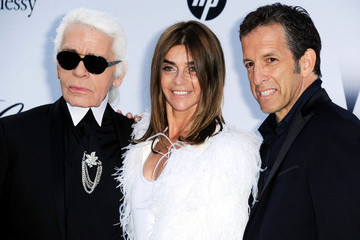 Carine Roitfeld Karl Lagerfeld amfAR's Cinema Against AIDS Gala