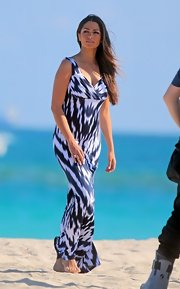 A print maxi made Camila Alves look ready for a day at the beach.