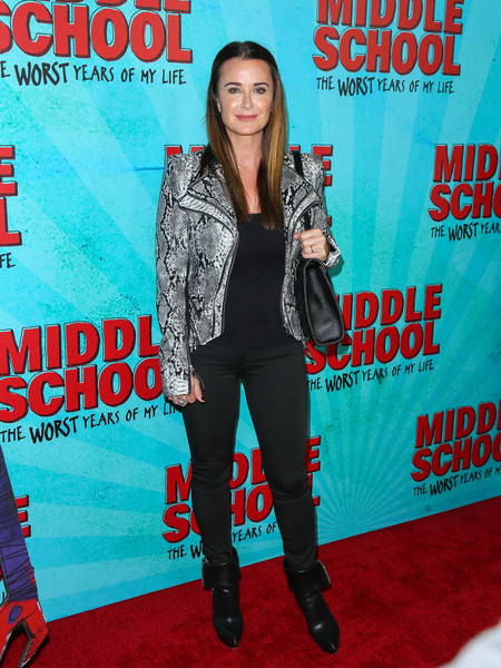 For her shoes, Kyle Richards chose a pair of cuffed ankle boots.