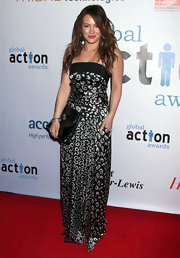 Hilary Duff carried an oversized black snakeskin clutch to the 1st Annual Global Action Awards Gala.