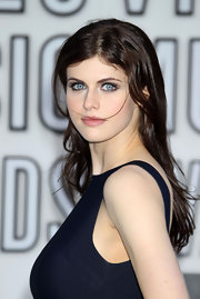 Alexandra Daddario showed off a sleek long 'do while attending the MTV Video Music Awards.