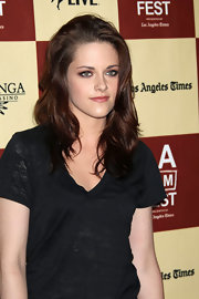 Kristen Stewart dressed casually but brought some serious drama with her sultry smoky-eyed makeup look at the 2011 Los Angeles Film Festival.
