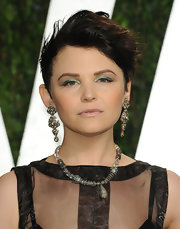 Ginnifer Goodwin attended the 2012 'Vanity Fair' Oscar Party wearing metallic green eyeshadow.