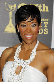 Regina King topped off her look with a cool pixie when she attended the Film Independent Spirit Awards.
