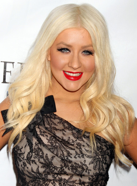 More Pics of Christina Aguilera Long Curls (2 of 7) - Christina Aguilera Lookbook - StyleBistro