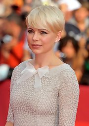 Michelle Williams showed off her short cropped cut while attending the Venice Film Festival.