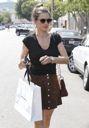 Alessandra Ambrosio was spotted out in West Hollywood sporting a pair of Illesteva sunglasses.