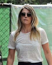 Ali Larter took a stroll in West Hollywood wearing a pair of square sunglasses.