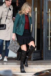 Ali Larter looked fierce in her black knee-high boots.