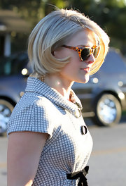 Ali Larter looks fabulous leaving the salon. She had her mid-length bob shortened and blown out to create lots of volume.