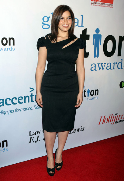 America Ferrera Cutout Dress