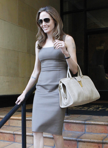 Angelina Jolie Leather Tote