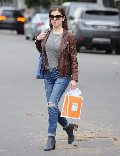 Anna Kendrick Ripped Jeans
