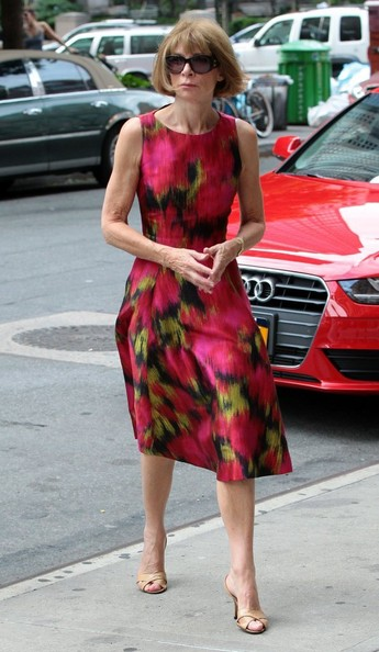 More Pics of Anna Wintour Print Dress (3 of 7) - Anna Wintour Lookbook - StyleBistro