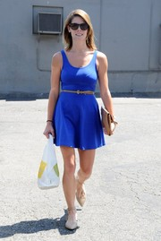 Ashley Greene grabbed some lunch looking oh-so-summery in a royal blue mini dress.