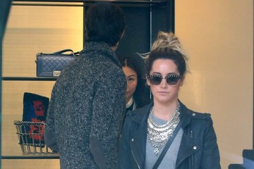 Ashley Tisdale Christopher French Ashley Tisdale & Christopher French Go Shopping At Chanel