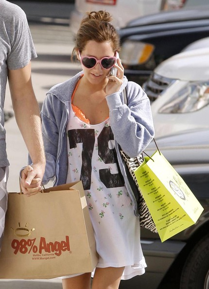 Ashley Tisdale Neon Sunglasses