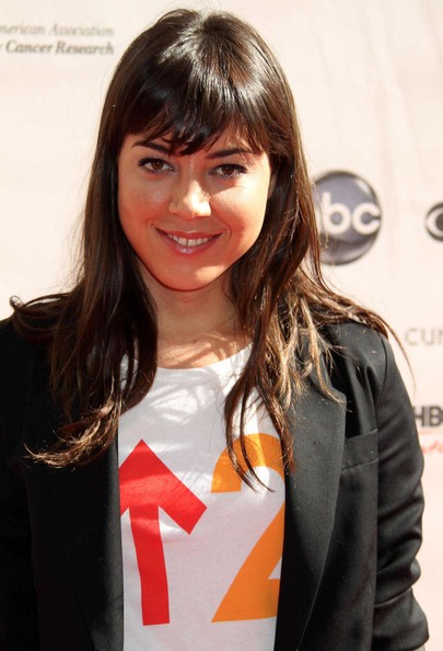 Aubrey Plaza Long Straight Cut with Bangs