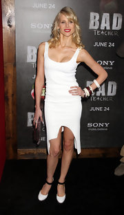 Lucy Punch accessorized with a ton of bangles at the premiere of 'Bad Teacher.'