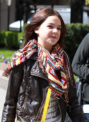 Bailee Madison wore a comfy looking scarf while out in Vancouver.