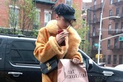 Bella Hadid Fur Coat