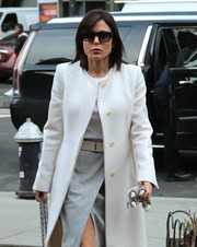 Bethenny Frankel headed out in New York City wearing a pair of wayfarer sunglasses.