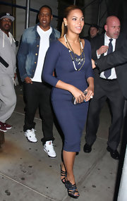 Beyonce wore this classic sheath while out in NYC with Jay-Z.