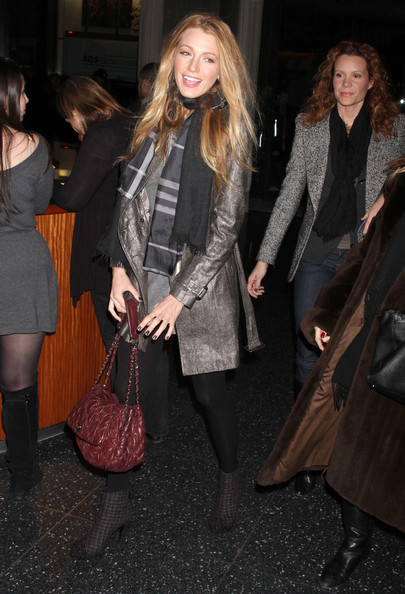 Blake Lively Quilted Leather []