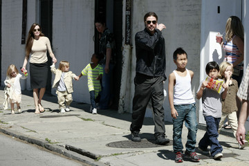Brad Pitt Zahara Jolie Pitt Brad and Angelina Show Off the Kids in NOLA 4
