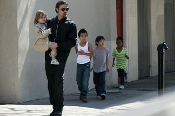 Brad Pitt Zahara Jolie Pitt Brad and Angelina Show Off the Kids in NOLA 3