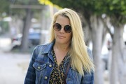Busy Philipps Round Sunglasses