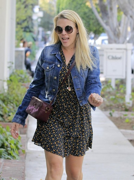More Pics of Busy Philipps Ankle Boots (1 of 18) - Busy Philipps Lookbook - StyleBistro []