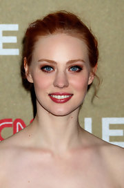 Deborah Ann Woll wore metallic copper shadows and lots of black liner to create her dramatic eye makeup look at the 2011 CNN Heroes: An All Star Tribute.