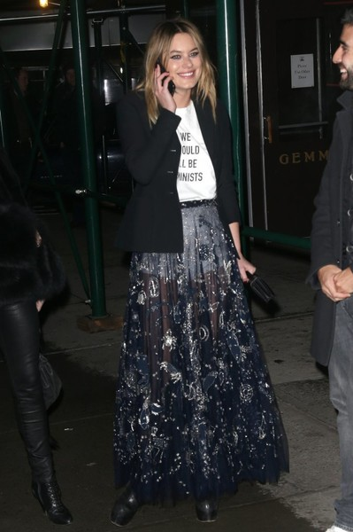 Camille Rowe Sheer Skirt