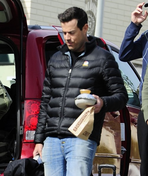 Carson Daly Filming at Sunset Plaza
