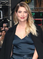 Ashley Benson looked radiant with her ombre waves while visiting 'Good Morning America.'