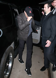 Leonardo DiCaprio kept it casual with a pair of Nike basketball sneakers at the Critics' Choice Awards after-party.