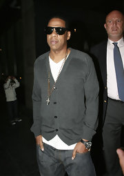 Jay-Z's rockin a modern day version of a rosary.