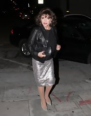 This sparkly evening skirt was perfect for a mature star like Joan Collins.