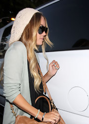 Lauren Conrad wears Tiffany's blue nail polish.