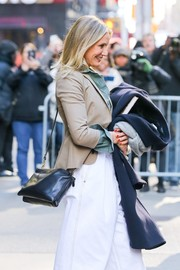 Cameron Diaz was spotted outside the 'Good Morning America' studio carrying a Celine Trio bag, in black.