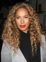 Leona Lewis' red lipstick totally brightened up her beauty look.