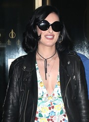 Rumer Willis left 'The Today Show' looking vintage-chic in her oversized sunnies.