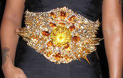Eve's spiked gemstone belt at the Blonds fashion show looked like a safety hazard (albeit a very glamorous one)!