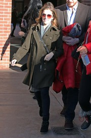 Anna Kendrick kept it stylish in a military-chic wool coat while enjoying the Sundance festivities.