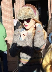 Kate Hudson geared up for cold weather with a fur hat at the 2014 Sundance Film Festival.