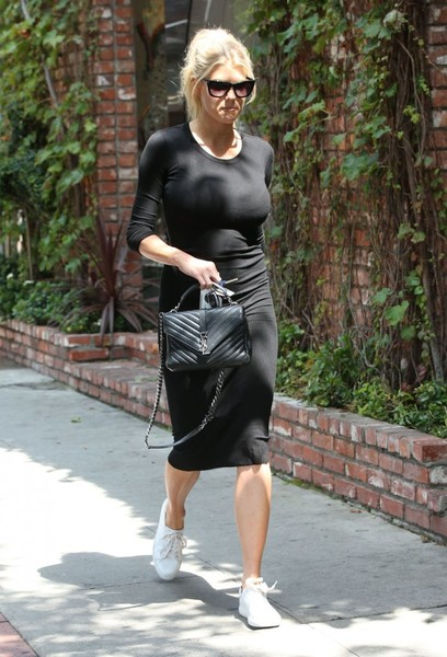 Charlotte McKinney Leather Sneakers []