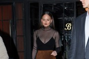 Chrissy Teigen Sheer Top
