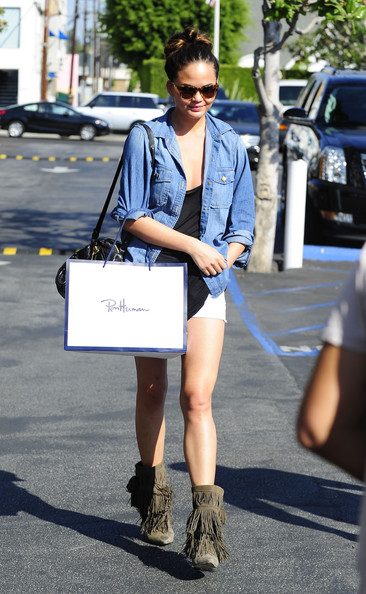Chrissy Teigen Denim Shirt